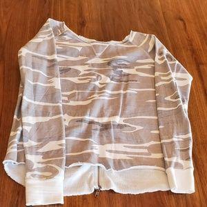 Ocean Drive Gray Camo Sweatshirt